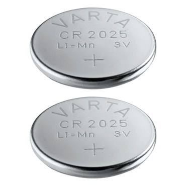 Set di 2 batterie a bottone CR2025 3V - Varta