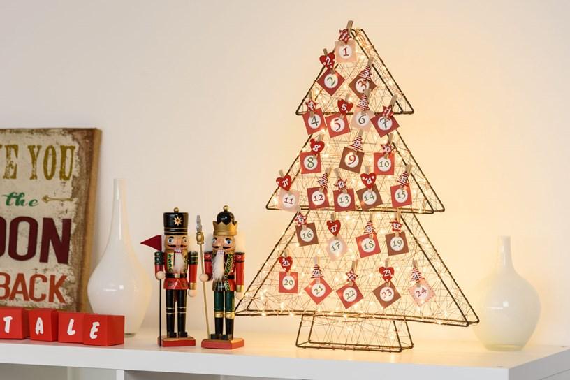 Calendario Avvento sull'albero