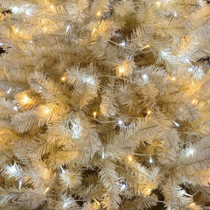 Albero di Natale bianco con lucine led