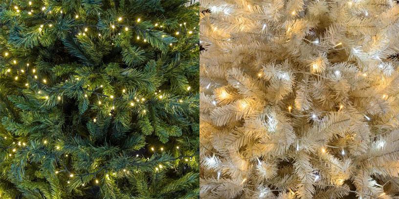Guirnaldas de Navidad para un árbol verde o blanco