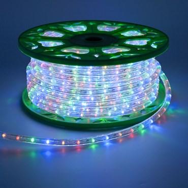 45m Multi Coloured LEDs Rope Lights, 13mm diameter, 230V