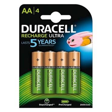 4 Pilas recargables AA Duracell DU75