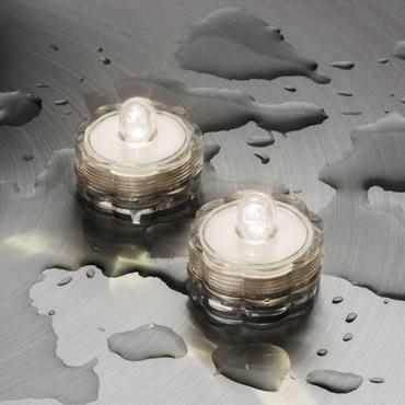 2 candeline led tealight sommergibili, bianco caldo