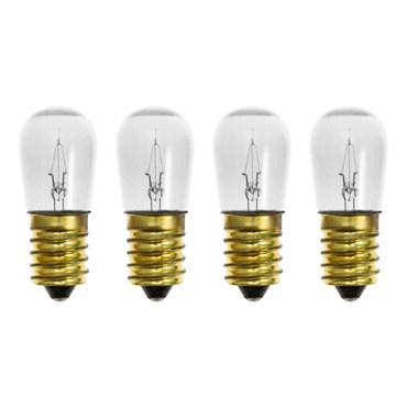 Lot de 4 ampoules à incandescence pour guirlande, E14, 14V