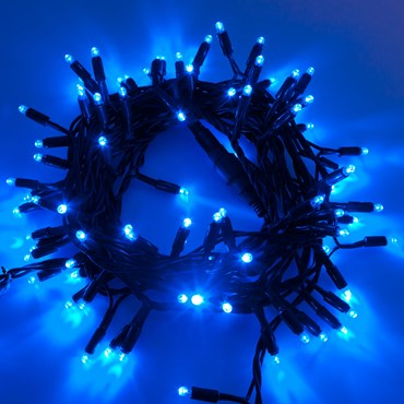 Guirnalda de luces profesionales 10 m prolongable, 120 Maxi Led azul