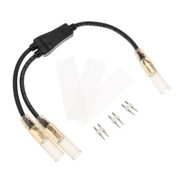 Conector Y para manguera luminosa 13mm