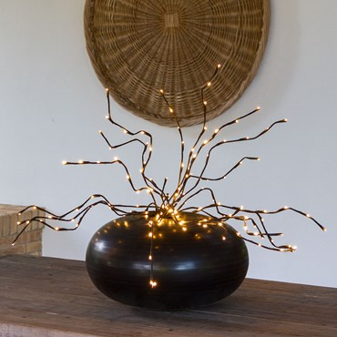 75cm Brown Branch Lights, 80 Warm White LEDs