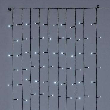 Cortina para Árbol de Navidad h. 150cm, 120 Led destellos blancos