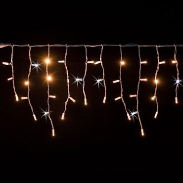 Eisregen-Lichterkette 3 x h 0,5 m, 114 Maxi LEDs warm- und kaltweiß, weißes Kabel, erweiterbar