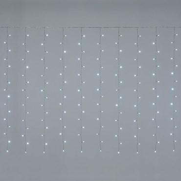 5 x h 1.5m 384 White LEDs Curtain Lights, Transparent Cable