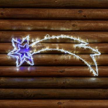 Estrella fugaz luminosa Led con destellos 63 x h. 25cm