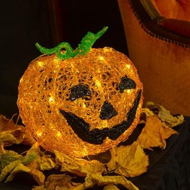 Calabaza de Halloween luminosa a pilas Ø 22cm