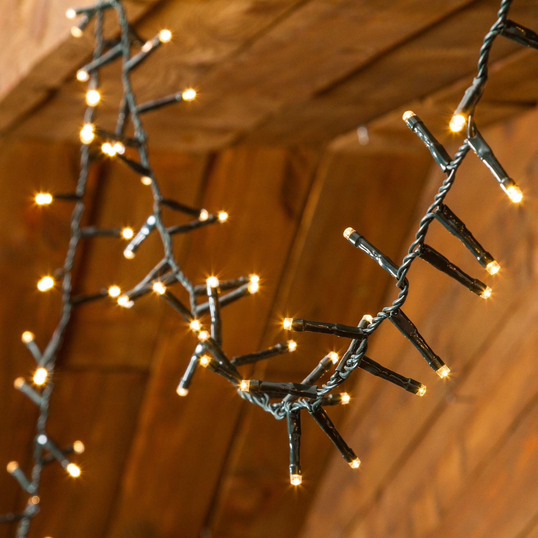 Guirlande lumineuse /à piles 1,5 mx 1,5 m 100 LED Guirlande d/écorative 8 modes Dimmable Blanc chaud