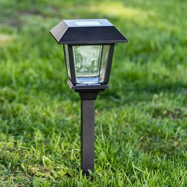 Lampioncino da giardino con lanterna a energia solare, h 48,5 cm, led bianco freddo