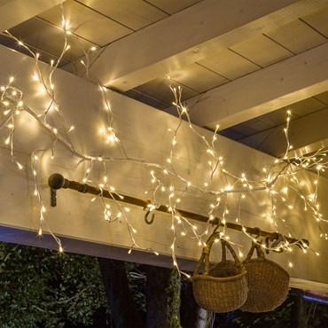 Weißer Lichterzweig 3 m, 288 LEDs warmweiß