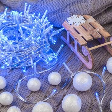 Guirnalda de luces 13m, 180 Mini Led azul