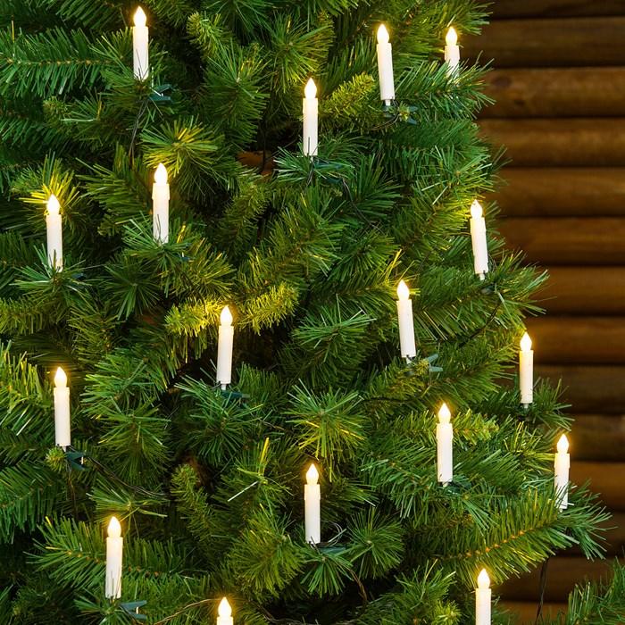 400 LED - 40m LED Lichterkette mit 400 LEDs Weihnachtsbaum Lichterkette f/ür den Innen- und Au/ßenbereich LED: warmwei/ß//Kabel: gr/ün