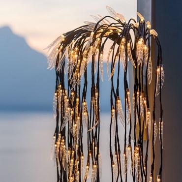 Brauner Lichterzweig Trauerweide h 180 cm, 252 LEDs warmweiß