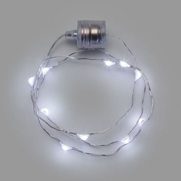 Collana Brilly 60 cm a batteria, 10 microled bianco freddo