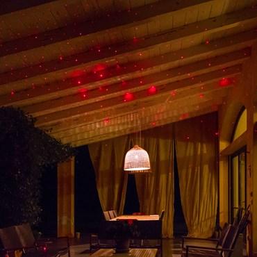 LASER-Projektor, rotes Licht