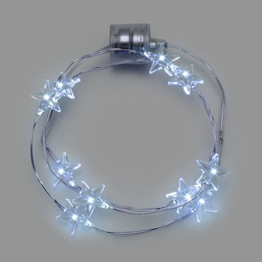 Collar luminoso a pilas Ø 20cm Estrellas Led blanco