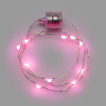 60cm 10 microled Pink Brilly Necklace Battery Lights