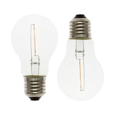 Lot de 2 ampoules de rechange E27, Ø 6 cm, 36V, led blanc chaud