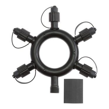 PML runder Multiverbinder, 5 Ausgänge, OHNE Kabel