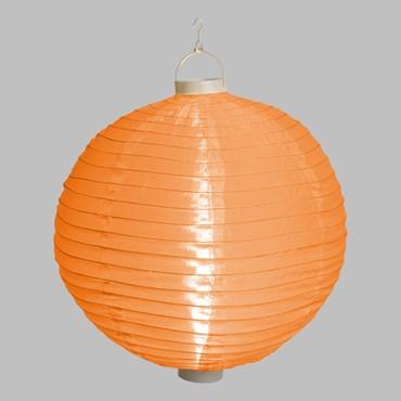 Ø 40 cm, 3 Warm Orange LEDs, White Party Tissu Lantern Lights