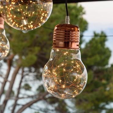 Lámpara Bombilla con luces Led Ø 14cm