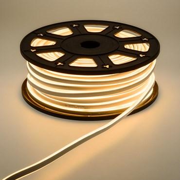Beidseitig leuchtender Lichtschlauch Neon-Effekt 50 m, 6000 LEDs warmweiß