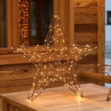 3D-Kupferstern Ø 60 cm, 180 Micro LEDs warmweiß