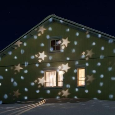 LED-Projektor Snowfall blau, warm- und kaltweiß