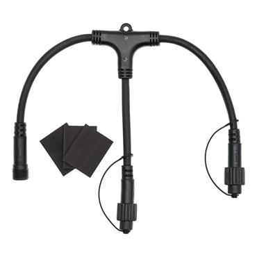 VINTAGE LED PRO 2 Way Connector, Black Cable