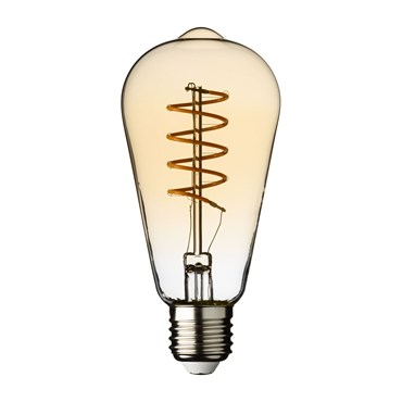 LED-Vintage Birne Retro, Spiralfaden, 64 mm, E27, warmweiß, 4 Watt, 230V