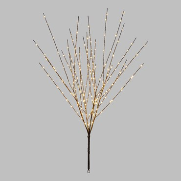 Branche décorative marron h 100 cm, 220 microled blanc chaud