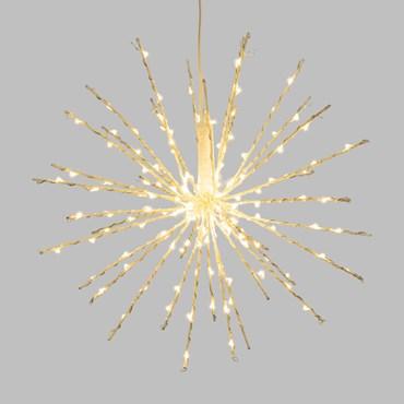 30cm White Twigball Branch Lights, 160 Warm White MicroLEDs
