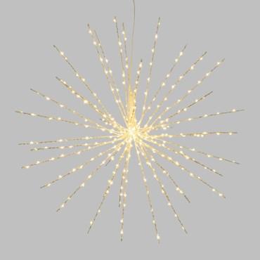 60cm White Twigball Branch Lights, 320 Warm White MicroLEDs