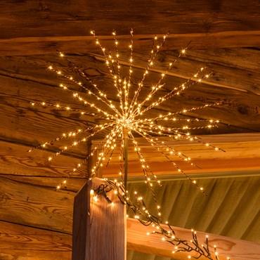 60cm Brown Twigball Branch Lights, 320 Warm White MicroLEDs