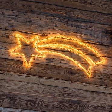 Estrella fugaz luminosa Strip Gold Led 115 x h. 41cm