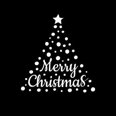 Gobo Merry Christmas Weihnachtsbaum Ø37-23 mm