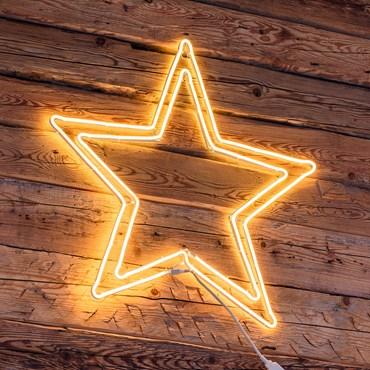 Lichtschlauch-Doppelstern Ø 75 cm, 600 LEDs warmweiß