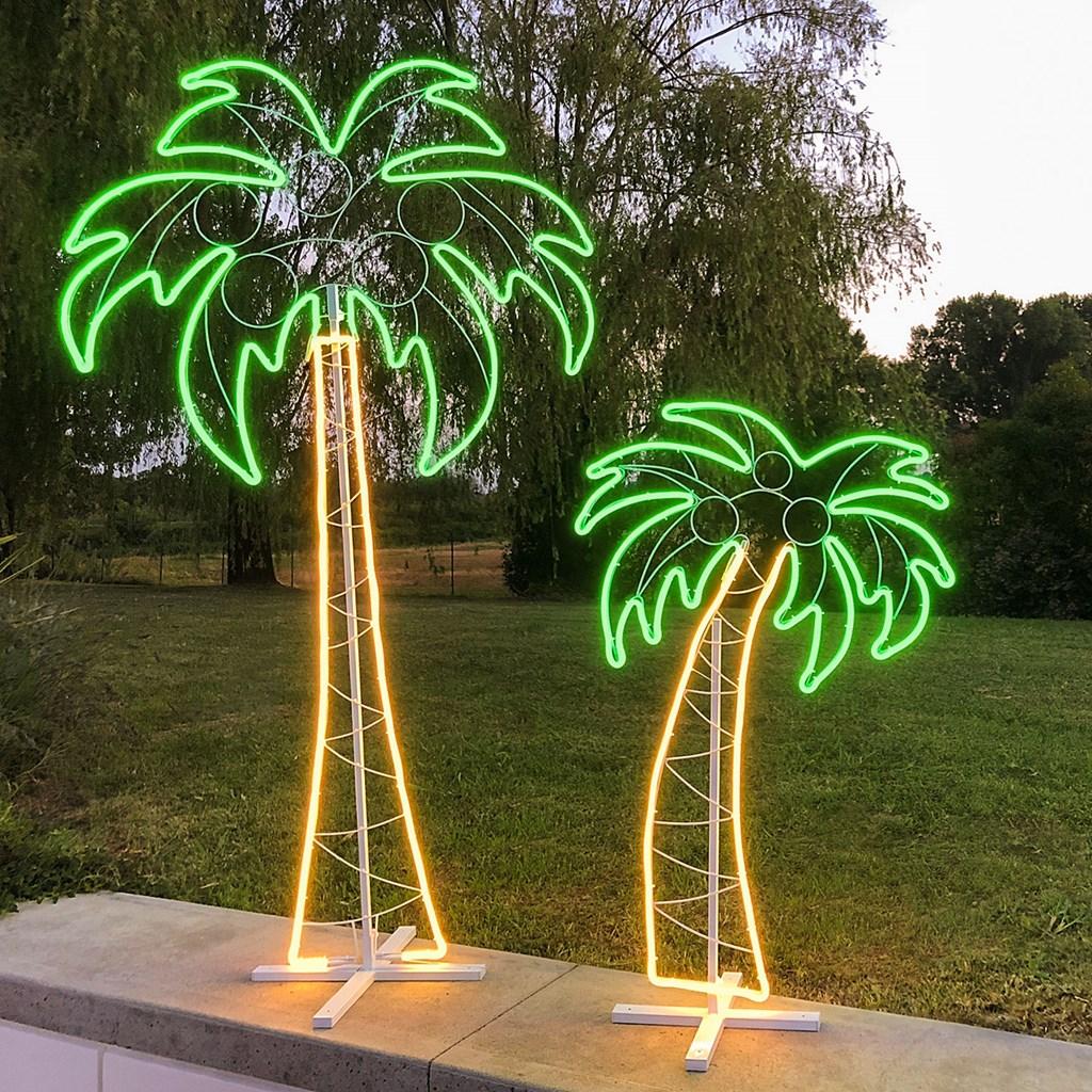 Palme Da Vaso Per Esterno lampada decorativa palma in tubo effetto neon bifacciale h 1