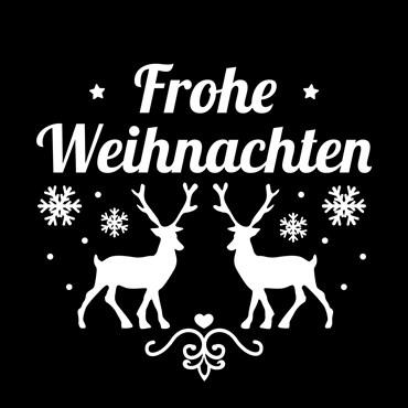 Gobo Frohe Weihnachten mit Rentieren und Eiskristallen Ø30-20 mm
