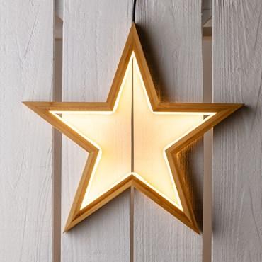 Estrella luminosa de madera Design Wood Light h. 35cm