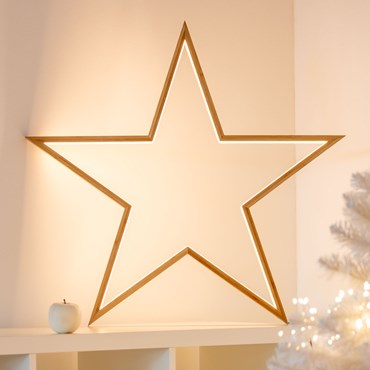 Estrella luminosa de madera Design Wood Light h. 75cm