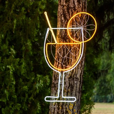 Lampada decorativa Cocktail Spritz in tubo effetto neon, 115 cm, 672 led