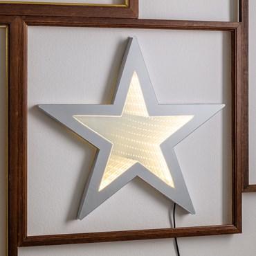 LED-Stern Infinity Mirror beidseitig, Ø 35 cm, warmweiß, innen