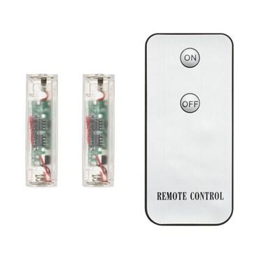 IR On-Off batteriebetriebene Fernbedienung 2 Empfänger für batteriebetriebene AA Artikel