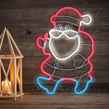 Lampada decorativa Babbo Natale Rosso e Blu in tubo effetto neon, 57 cm, 288 led